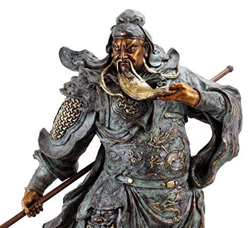 General Guān Yǔ - Opulente Bronzestaue - Samurai Skulptur - signiert Milo - Moderne Kunst online kaufen - Asiatika - XXL Samurai Bronzefigur