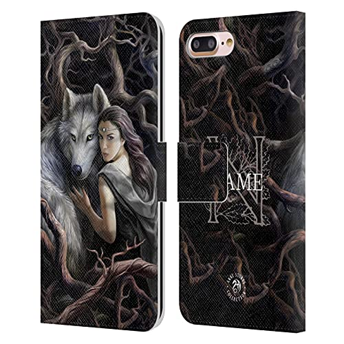 Head Case Designs Licenza Ufficiale Personalizzata Personale Anne Stokes Legame d'anima Arte Cover in Pelle a Portafoglio Compatibile con Apple iPhone 7 Plus/iPhone 8 Plus