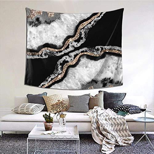 Tapiz para colgar en la pared, ágata Yin Yang con purpurina, decoración de gemas brillantes, 156 x 150 cm, estilo bohemio, para colgar para dormitorio, sala de estar, hogar, decoración