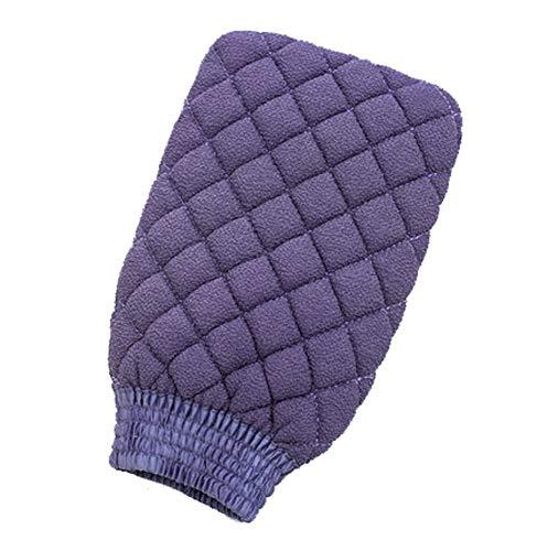 Serviette de bain double face décontamination Serviette de bain dos Gants de bain (violet)