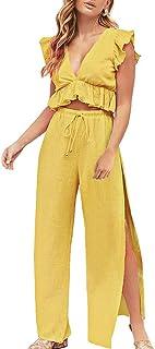 3544b9348 Amazon.es: Amarillo - Monos / Mujer: Ropa