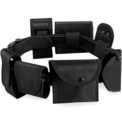 HBselect Cinturon Tactico Ajustable y Desmontable Negra Bolsas Y Cinturones Hombre