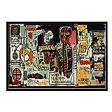 ZHJJD Pop Graffiti Art Artista Callejero Moderno Pintura en Lienzo Famoso Cuadro de Arte de Pared Poster Vintage Decoracion Decorativa para el hogar Murales de Mesa 50x70cm Sin Marco