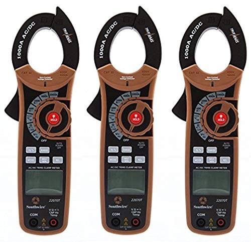 Southwire Tools & Equipment 22070T 1000A AC/DC TrueRMS Clamp Meter, Multimeter with 12 Functions (3)