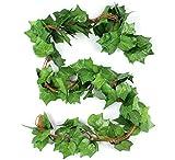 5 guías Enredaderas Artificiales Decorativas follaje Artificial Guirnalda Colgante decoración Muro Verde Alta Calidad