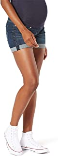 Women's Maternity Mid-Rise Shortie Shorts