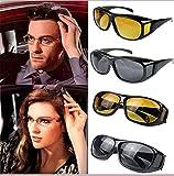 Romino Black Frame Night Vision Driving Sunglasses for Men and Women