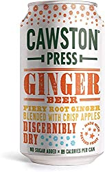 Made with ginger extract, pressed apples and sparkling water Dry twist on the classic with fiery root ginger and crisp pressed apple Balanced, not too sweet and with a gentle fizz Natural Flavouring Citric Acid