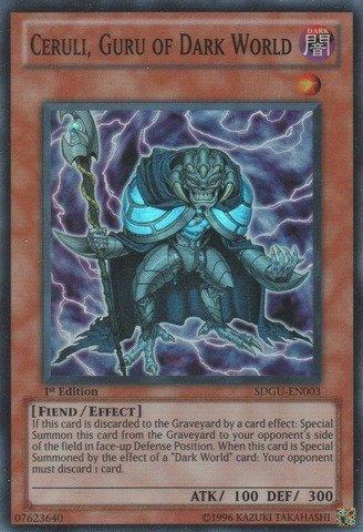 Yu-Gi-Oh! - Ceruli, Guru of Dark World (SDGU-EN003) - Structure Deck 21: Gates of The Underworld - 1st Edition - Super Rare