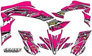 Senge Graphics kit compatible with Yamaha 2003-2008 YFZ 450 (Steel Frame), Shredder Pink Graphics Kit