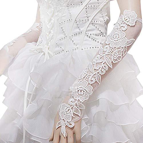 Gants de mariée mariage robe de soirée dentelle longs gants A10