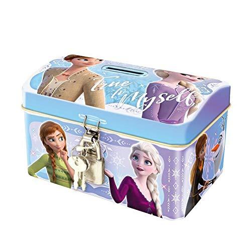 ハート ディズニーアナと雪の女王2 鍵付き缶 お菓子付ギフト