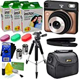 """Fujifilm instax Square SQ6 Instant Film Camera (Blush Gold) + 3 Instax Square Twin Film Packs (60 Sheets) + 3 Color Filters + Carrying Case + 57"""" Tripod + 2 Batteries + Strap + HeroFiber Cloth"""