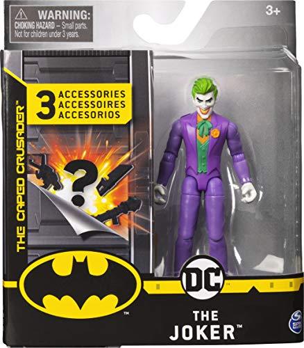 Batman - Joker, Personaggio da 10 cm con 3 Accessori Misteriosi, dai 3 Anni - 6056747