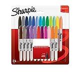 Sharpie 2065405.0 - Rotuladores permanentes, punta fina, paquete de 24, colores surtidos fantasía