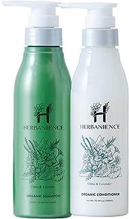 さくらの森 ハーバニエンス オーガニックシャンプー&コンディショナー 天然由来成分100% アミノ酸系シャンプー シトラスハーブの香り ノンシリコン 無添加 【内容量 300ml / 約2カ月分】