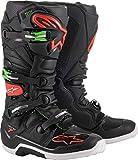 Alpinestars Tech 7 Off-Road - Botas de motocross, color negro, rojo y verde, Negro (Negro/Rojo/Verde), 45 EU