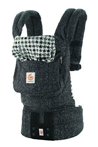 エルゴベビー(Ergobaby) 抱っこひも おんぶ可 [日本正規品保証付] (日本限定ベビーウエストベルト付) (洗濯機で洗える) 装着簡単 ベビーキャリア オリジナル/ブラックツイル CREGBCATWBLK