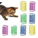 GLOBALDREAM Katzenfeder, 72 Stück Cat Spring Spielzeug Bunte Spirale Katzen Spielzeug Kunststoff Spiralfedern für Katze Kätzchen Haustiere Neuheit Geschenk