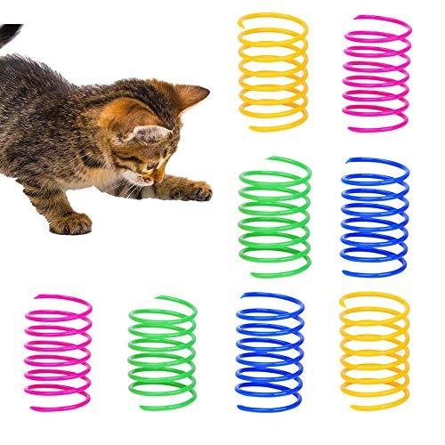 GLOBALDREAM Juguetes para Gato con Muelles, 72 Piezas Muelle Colorido Juguete para Gato Interactivos Duraderos para Gato Gatito Mascotas Regalo de Novedad
