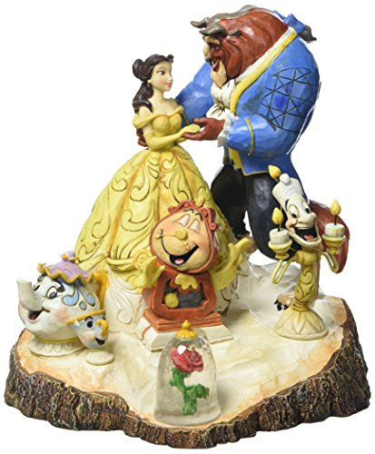 Enesco 4031487 Figur Disney Tradition Tale As Old As Time, Carved By Heart Beauty & The Beast Figur, 16,5 x 17,8 x 19,7 cm