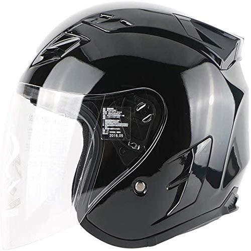 ZHXH Harley Helm Adult Motorboat Cruiser Scooter Herren und Damen Helm Dot Zertifizierung mit Sonnenschutzbrille 4/4 Scooter Helm