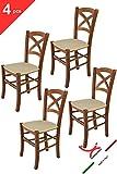 Tommychairs sillas de Design - Set de 4 sillas Modelo Cross