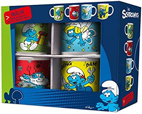 Easy Licences - Les Schtroumpfs assortiment 4 mugs pour enfants by Eli