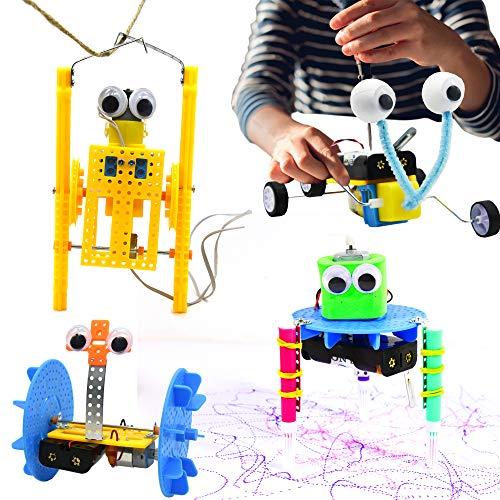 ubrand 4 Set STEM Kit,DC Motors Electronic Assembly Robotic ,DIY STEM Toys Kids Science Experiment...