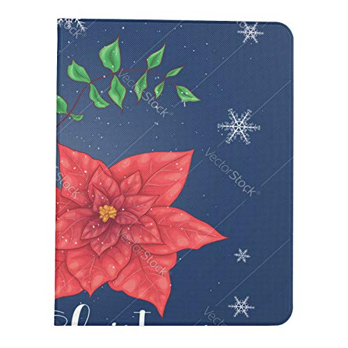 Case for Ipad Pro 11' 2020/2018 with Pencil Holder,Smart Lightweight Soft TPU Back Premium Protective Case Cover with Auto Sleep/Wake Feature,Pointia Flowers and Christmas Floral Elements
