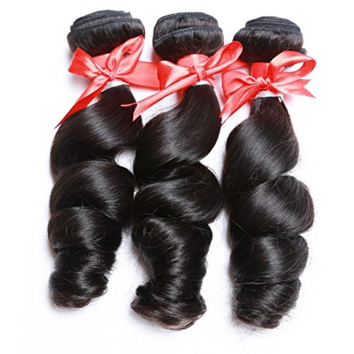 Meylee Postiches 3 faisceaux totalement 300 grammes Loose Wave 100 % cheveux humains malaisiens Extensions/trame , 22 24 26