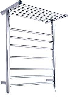GJIAWI Curvado eléctrico Calentador de Toallas toallero Calentador del radiador Cromo Antracita de Alta eficiencia para Colgar en Rack 26,8 X 20,5 Pulgadas - 71W