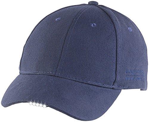 PEARL Mütze mit LED: LED-Schirmmütze mit 5 Highpower-LEDs (LED Cap)