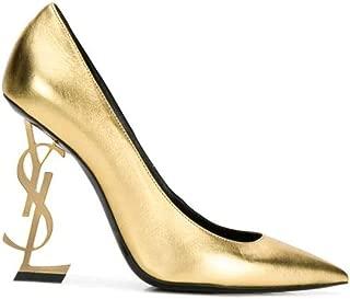 SAINT LAURENT Luxury Fashion Womens 4720110XQJJ8030 Gold Pumps | Fall Winter 19