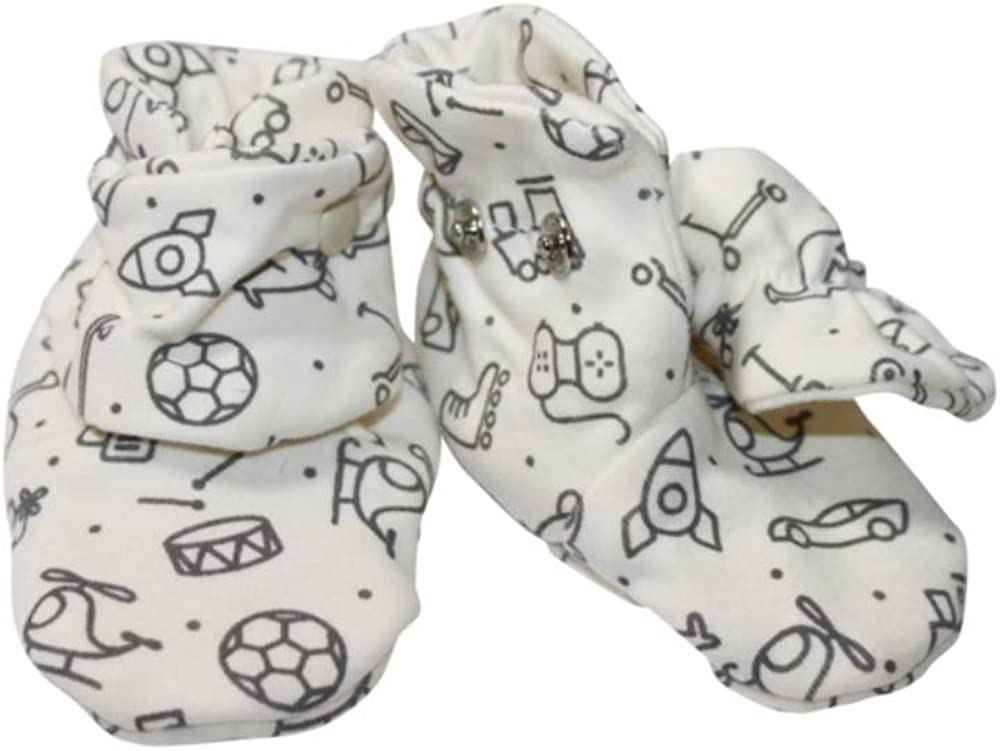 Darlyng & Co.'s Soft Stay On Cotton Newborn Baby Booties | For 0-6 Months