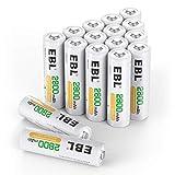 🔋【ECOLOGICA 】- Fatto con materiali ecologici Ni-MH riduce l'inquinamento dei metalli pesanti per proteggere l'ambiente. 🔋【CICLI DI RICARICA】- Possono essere caricate fino a 1200 volte, risparmiare i soldi da comprare un gran numero di batteria usa e ...