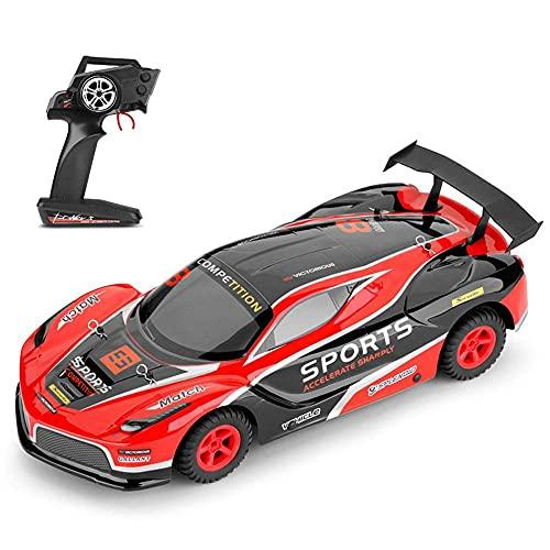 GLXLSBZ 1/10 Scale 2WD Sports Car 2.4G Vehículo de Control Remoto inalámbrico de Alta Velocidad RC Sporty Racing Car con una Velocidad de 35KM / H 17.5 Pulgadas Lar