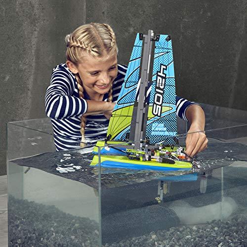 LEGO Technic Catamaran 42105 Model Sailboat Building Kit (404 Pieces)
