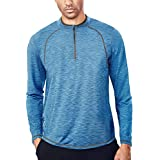 Tech Quarter Zip Pullover Running Shirt Men Dry...