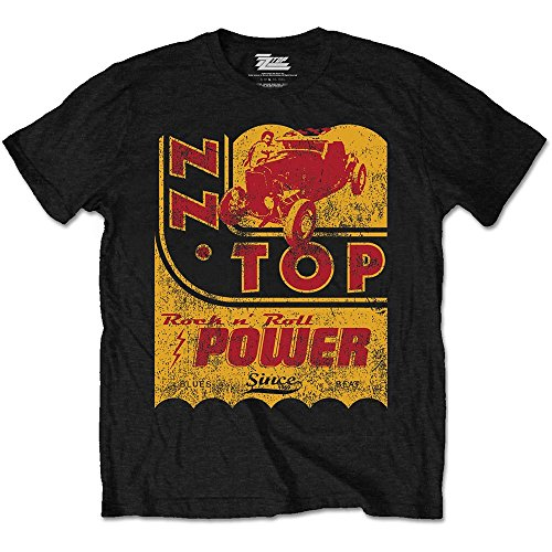 ZZ Top Vintage Muscle Car Billy Gibbons Rock Oficial Camiseta para Hombre