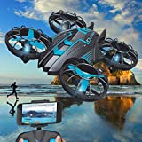 equival Mini Drone Helicopter 4-Axis RC Drones avec Caméra HD, Télécommande Quadcopter FPV 2.4G WiFi Helicopter, Altitude Hold, 3D Flips, Gravity Control and Trajectory Flight Latest