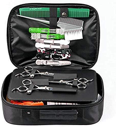 Portable Outil De Coiffure Sac Portable Salon De Coiffure Styling Clipper Peigne Ciseaux Cas De Stockage De Transport De Coiffure Outil Sac de Transport, noir, 30 * 22 * 6cm.