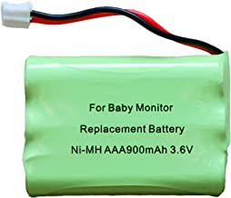 900mAh Replacement Battery for Motorola Baby Monitor 3.6V Ni-MH Battery MBP18 MBP26 MBP27T MBP33 MBP35S MBP36 MBP41 MBP43 MBP622 MBP667CONNECT MBP668 MBP843 MBP853CONNECT, Not Compatible with MBP36S