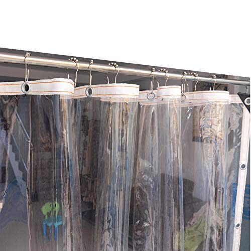 AOTNZ Cubierta De Lona Transparente, 0,3 Mm Claro Vinilo Tarea Pesada Impermeable Guardapolvo, Borde De Nailon Y Ojales,Durable PVC A Prueba De La Intemperie Recinto (Color : Clear, Size : 3x8m)