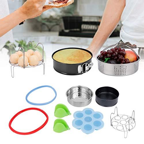 Gaorgas Food Steam Basket Eierregal Kit, Schnellkochtopf Küchenfritteuse Zubehör, zum Dämpfen von Mais, Brokkoli, Karotten, Meeresfrüchten oder zur Herstellung von gesundem Gemüsesalat