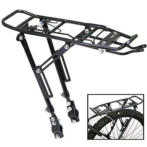 YQ&TL Portaequipajes Trasero De Aluminio para Bicicleta Bicicleta Bicicleta De MontañA Estante Trasero V Freno De Disco De Freno Colgador De Equipaje Puede Transportar Personas Montando Suministros