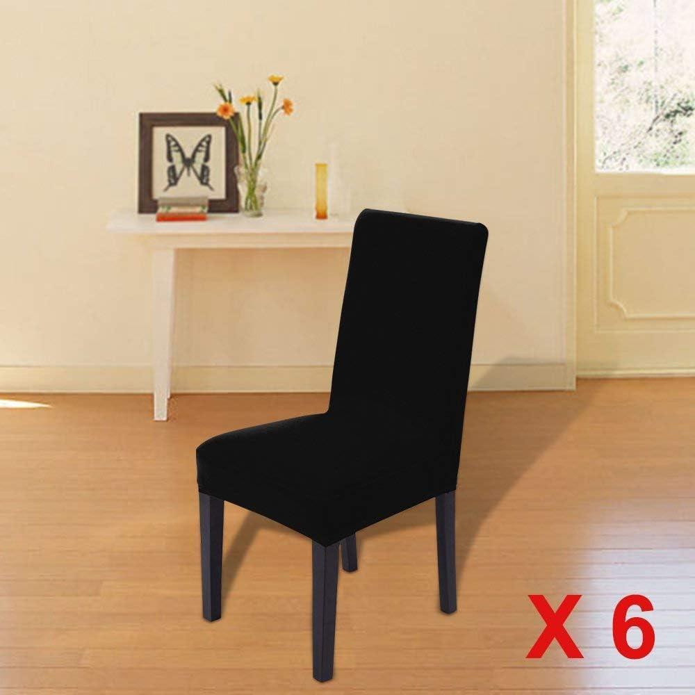 MultiWare 6 x Stuhlhussen Stretch Hussen Stuhlbezug Stuhl/überzug Hochzeit Mehrere Auswahl Cr/ème