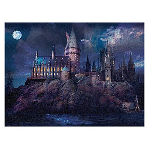 Fujinfeng Puzzle 1000 Piezas Harry Potter Castillo, Rompecabezas 1000 Piezas Harry Potter, Rompecabezas de Hogwarts de 1000 Piezas para Harry Potter Fans-Academia de Magia
