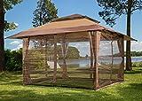 Sunjoy S-GZ001-E-MN Moskitonetz für Pavillon, 3 m x 3 m, Braun