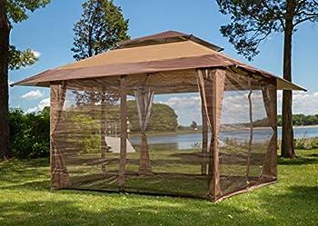 Sunjoy S-GZ001-E-MN 10  x 10  Mosquito Netting Panels for Gazebo Canopy,Brown